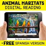 Animal Habitat Reading Comprehension for Google Classroom