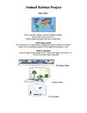 Animal Habitat Diorama Elementary Science Project - Assesment Rubric Included