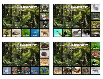 Animal Habitat Dry Erase Cards: Real Photos