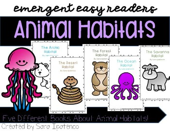 Animal Habitat Emergent Easy Reader Book Bundle