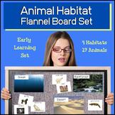 Animal Habitat Flannel Board Game Set