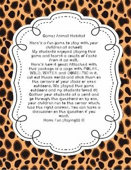 Animal Habitat Game