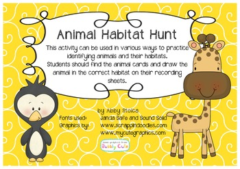Animal Habitat Hunt