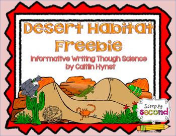 Animal Habitat Informative Writing Freebie (Desert Habitat)