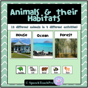 Animal Habitat Matching Activity