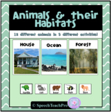 Animals and Their Habitats   Speech Therapy