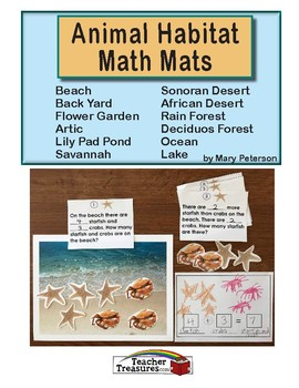 Animal Habitat Math Mats