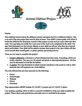 Animal Habitat Project