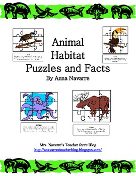 Animal Habitat Puzzles and Facts