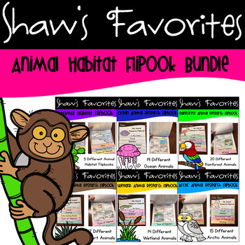 Animal Habitat Research Flipbooks BUNDLE of Savings