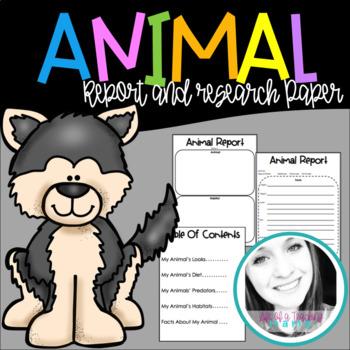 Animal & Habitat Research Paper & Project