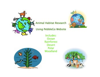 Animal Habitat Research Using the PebbleGo website