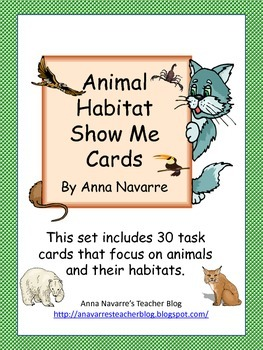 Animal Habitat Show Me Cards