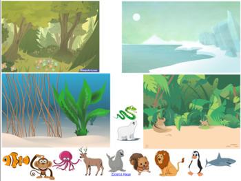Animal Habitat Sort Smart Notebook