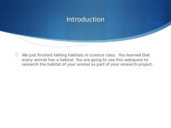 Animal Habitat Webquest