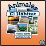 Animal Habitat Worksheet Activities - Actividades de hábitat de animales