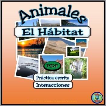 Animal Habitat Worksheet Activities / Actividades de hábit