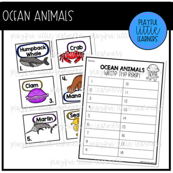 Animal Habitat Write the Room Bundle
