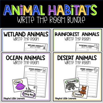 Animal Habitat Write the Room Bundle