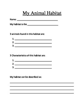 Animal Habitat research project