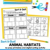 Animal Habitats Sort