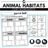 Animal Habitats Sort