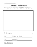 Animal Habitats Research Writing Informational Text Assess