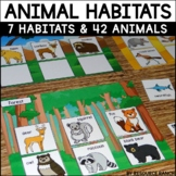 Animal Habitats for Science and Writing Centers