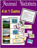 Animal Habitats 4-in-1 Game