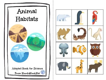 Animal Habitats- A Science Concept Adapted Book for Autism Units or Early Elem