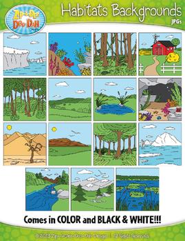 animal habitats background scenes clipart zip a dee doo dah designs