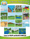 Animal Habitats Background Scenes Clipart {Zip-A-Dee-Doo-Dah Designs}