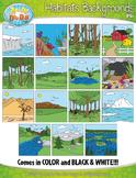 Animal Habitats Background Scenes Clipart {Zip-A-Dee-Doo-D