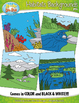 Animal Habitats Background Scenes Clip Art Set — Includes