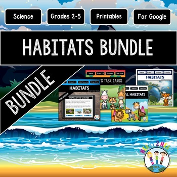 Animal Habitats Bundle with Activity Pack, PowerPoint, & Task Cards