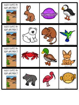 Animal Habitats Clip Strips