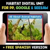 Animal Habitats Digital Activities for Google and Seesaw -
