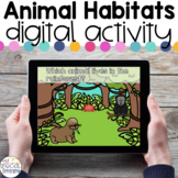 Animal Habitats - Digital Activity - Distance Learning for Special Education