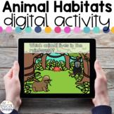 Animal Habitats - Digital Activity - Distance Learning for