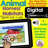 Animal Habitats Digital Boom Cards