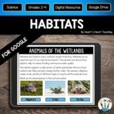 Animal Habitats for Distance Learning & Google Classroom