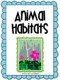 Animal Habitats - Diorama project, writing assignment, rub