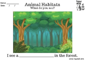 Animal Habitats Drawing Sheet!