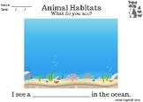 Animal Habitats Drawing Sheet!