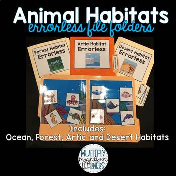 Animal Habitats Errorless File Folder Games