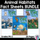 Animal Habitats Fact Sheets: Arctic, Desert, Forest, Ocean, Tundra, and More!