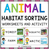 Animal Habitats For Kindergarten | Animal Sorting Picture Activities