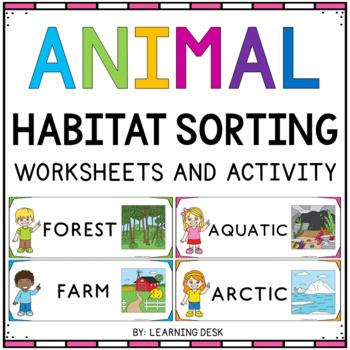 animal habitats for kindergarten animal sorting picture activities. Black Bedroom Furniture Sets. Home Design Ideas