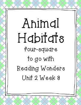 Animal Habitats Four Square