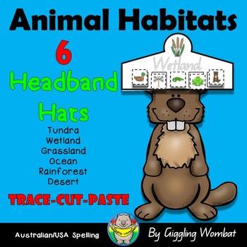 Animal Habitats Headband Hats